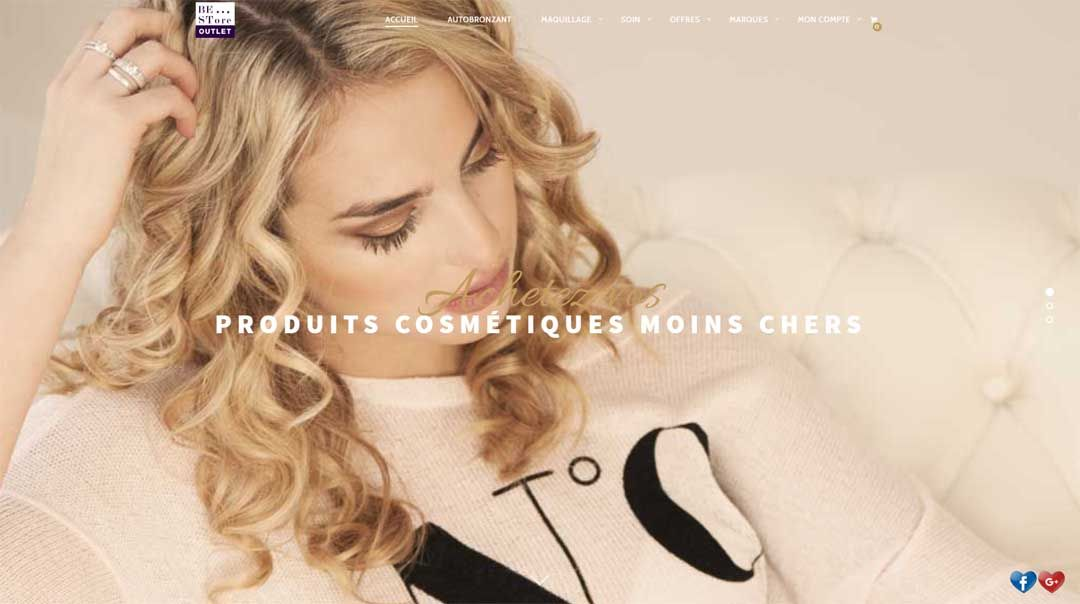 Creation de site internet BeStoreOutlet by Premiumapps